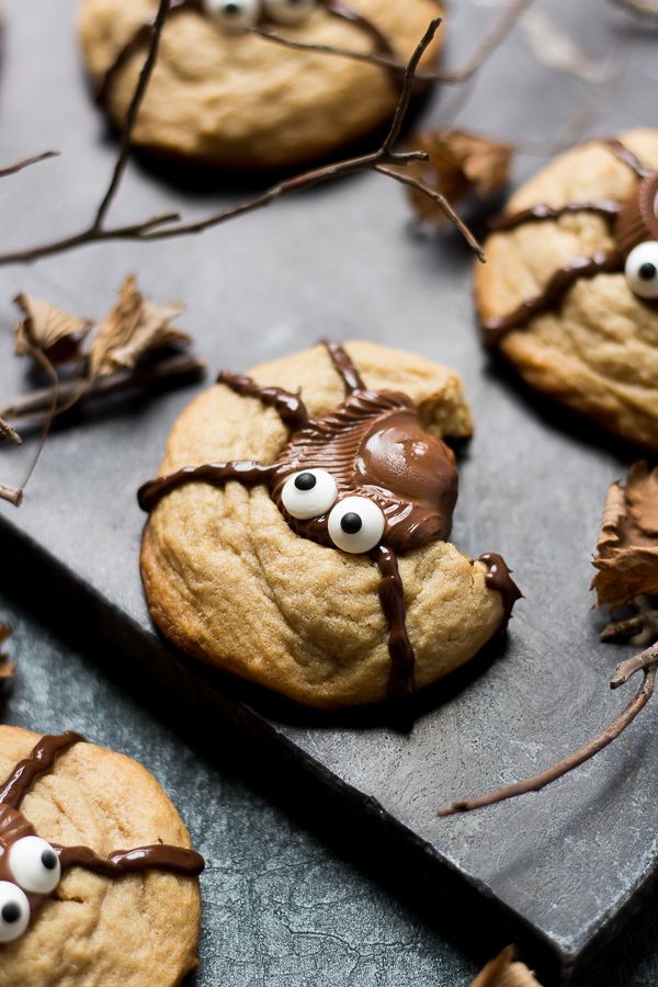 so today since ive already shared a peanut butter cup meringue tart with you ive decided to share a peanut butter cup cookiehalloween ified